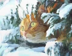 Cat in Snow adj.